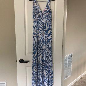 Lily Pulitzer blue and white Sloane maxi dress